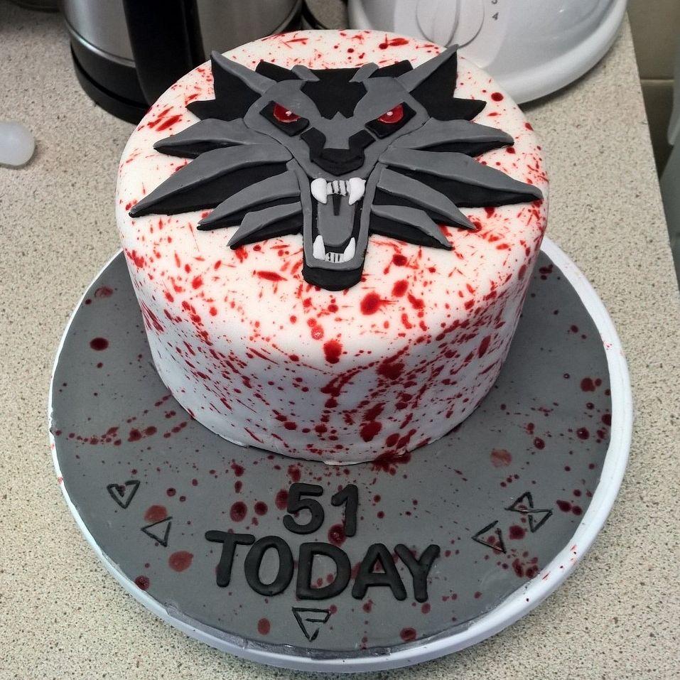 Witcher  Wild Hunt Battenberg Cake For My Dads Birthday - 3 birthday cake