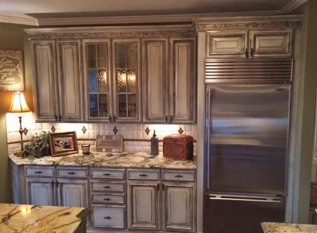 Kitchen Makeover In Enduro White Poly And Van Dyke Brown Glaze