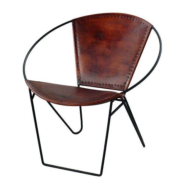 hoop leder lounger von industrial vintage chairs industrialstyle. Black Bedroom Furniture Sets. Home Design Ideas