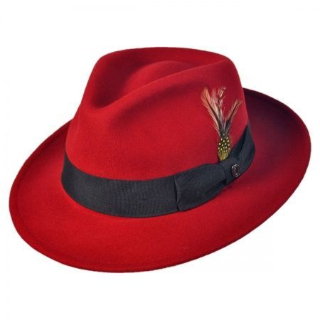 awesome Jaxon Hats Pachuco C-Crown Crushable Fedora Hat All Fedoras