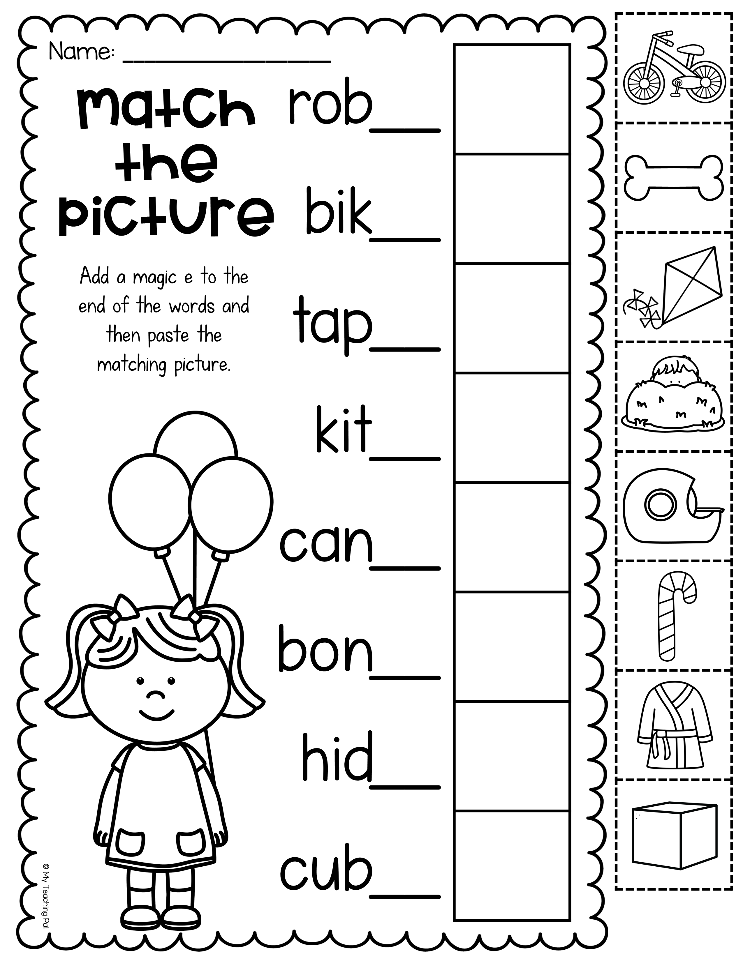 Bossy e worksheet   Preschool phonics [ 3300 x 2550 Pixel ]