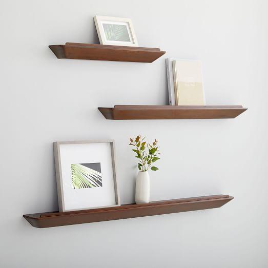 Slim Floating Shelf Dark Walnut Floating Shelves Diy Floating Shelves Wood Floating Shelves