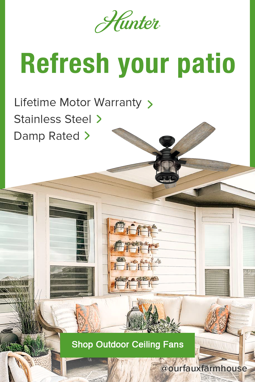 Refresh Your Patio By Adding An Outdoor Ceiling Fan Whether Your