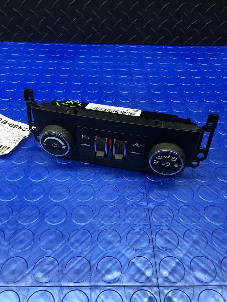 Gm Chevrolet Impala Dashboard Fan Heater Ac Climate Control Head Unit 22884767 Gm Chevrolet Impala Impala Chevrolet