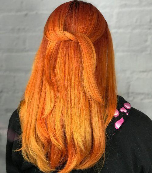 Top 20 Orange Hair Color Ideas of 2018 - Neon, Burnt, Red  Blonde