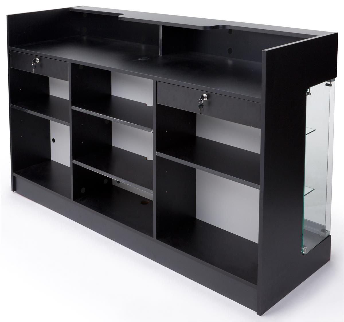 6ft. Cash Wrap w/Display Case Front, Locking Drawers