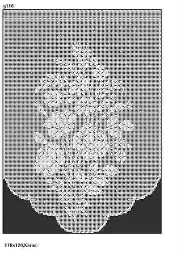 roses filet crochet crochet filet pinterest gardinen vorh nge und gardinen h keln. Black Bedroom Furniture Sets. Home Design Ideas