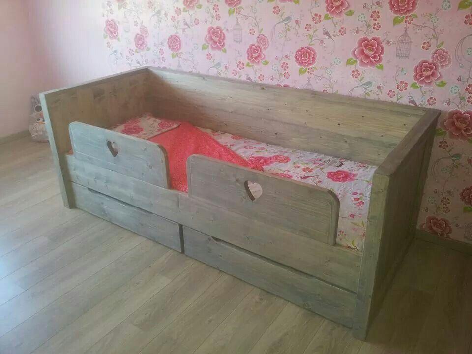 Wonderbaarlijk Meisjes bed steigerhout | Steigerhout - Bed steigerhout, Kinderbed NT-27