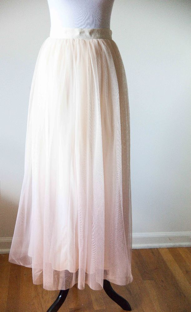 87f4d3ec82ed5 Lauren Conrad Runway Collection limited edition mesh beige ombre Maxi Skirt  Sz 6 #LCLaurenConrad #ALine