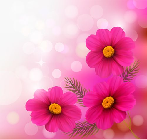 Httpfreedesignfile93455 pink flower with halation background buy holiday background with three pink flowers by almoond on graphicriver holiday background with three pink flowers fully editable vector objects mightylinksfo