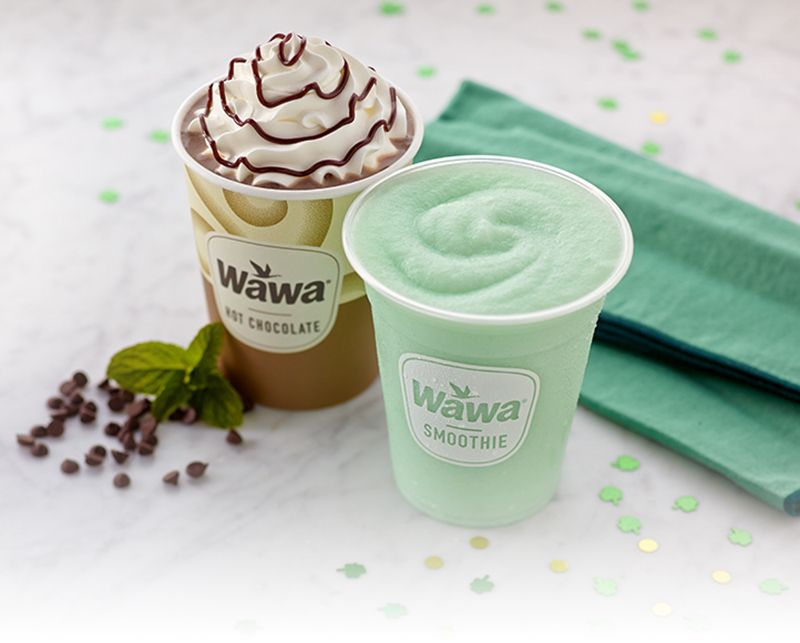 Wawa Mint Cream Smoothie And Mint Hot Chocolate Mint Creams Hot Chocolate Coconut Smoothie