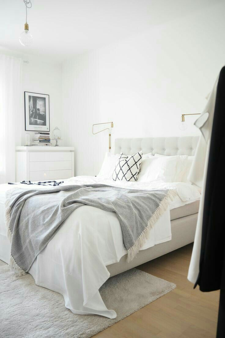 Clean And Crisp Bedroom Interior Woman Bedroom Scandinavian Design Bedroom