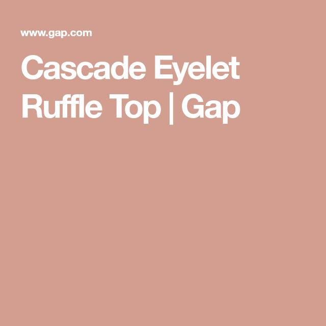 ff379de7c5 Cascade Eyelet Ruffle Top