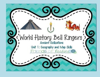World history bell ringers unit 1 my tpt products pinterest world history bell ringers unit 1 geography and map skills gumiabroncs Gallery