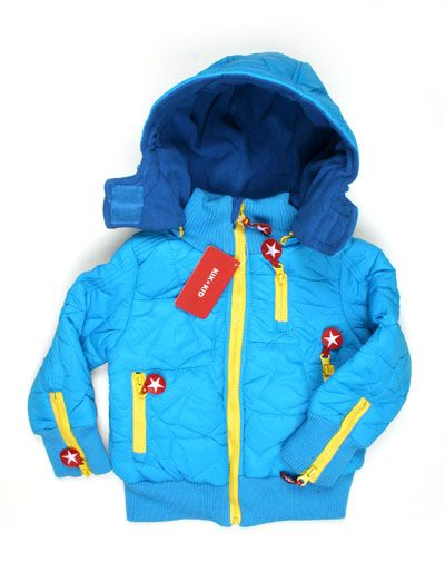 00e45c04a610ee Lightblue winterjacket for kids with yellow details - Kik Kid ...