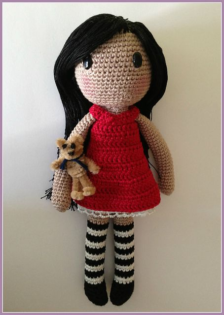 Ravelry: Gorjuss amigurumi FREE pattern by Ana Artedetei. | Crochet ...