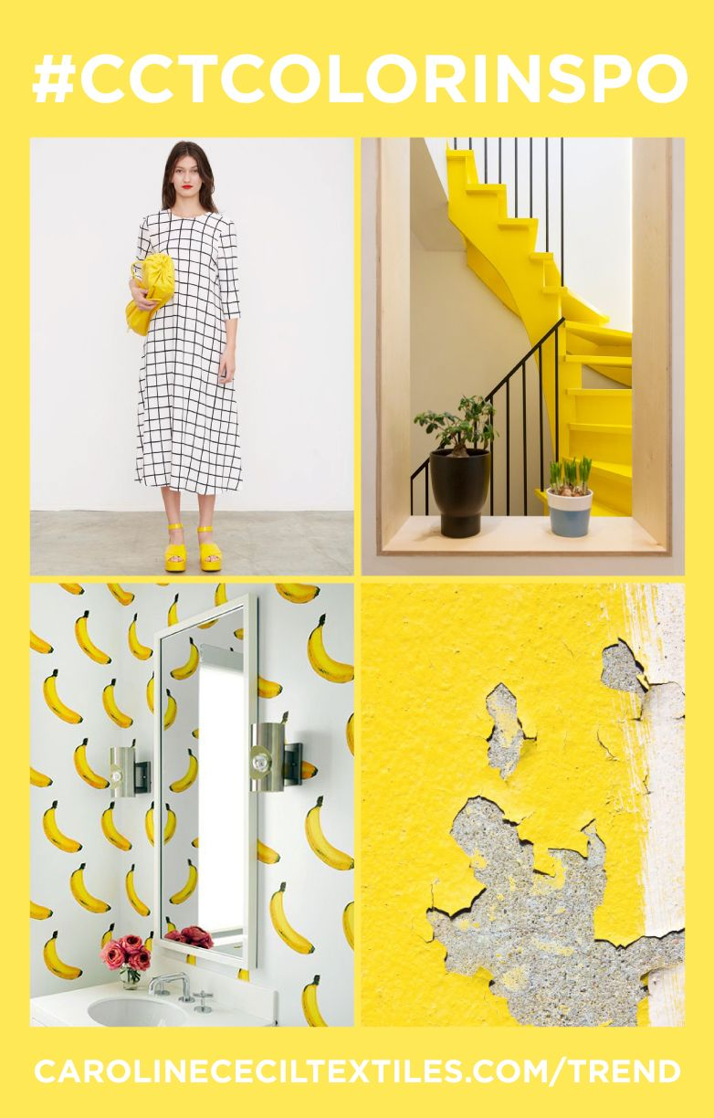 cctcolorinspo read all about the hottest new color trends for  - trends springsummer  fashion  interiors ss  power color yellow