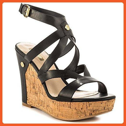 Womens Sandals GUESS Harlee Black Synthetic Nappa