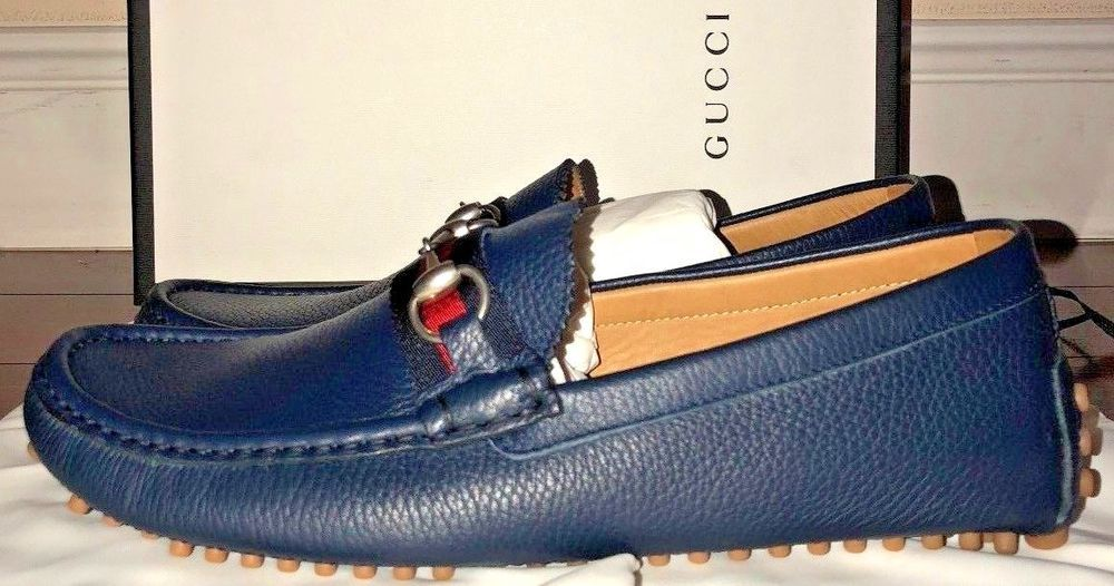 Mens Gucci Maritime Leather Web Detail