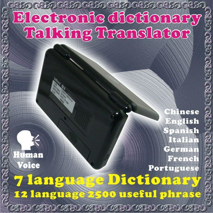 7 Languages Electronic Dictionary Talking Translator - Chinese ...7 Languages Electronic Dictionary Talking Translator - Chinese English  Spanish Italian German French Portuguese