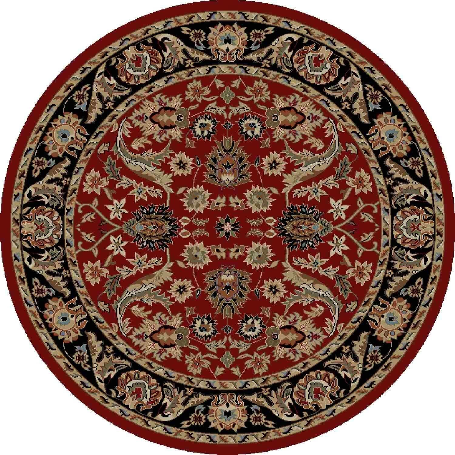 Concord Global Ankara Royals Red Round Rug 5 3 X 5 3 Round