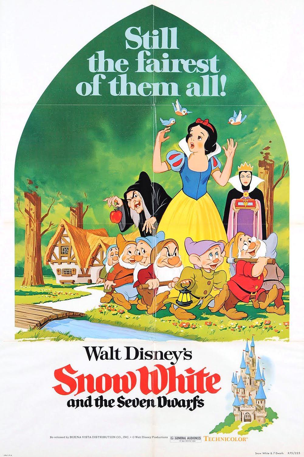 Snow White And The Seven Dwarfs 1937 Fantasy Romance Disney Movie Posters Snow White Movie Seven Dwarfs