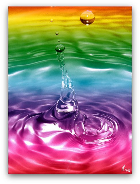 rainbow water drop color colour burst pinterest