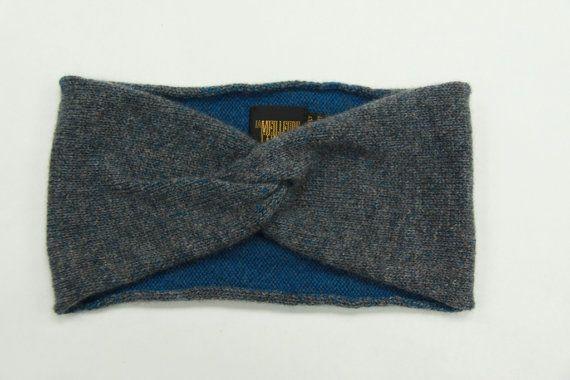 100% Pure Cashmere Handknit Turban/Headband in by SamTextile