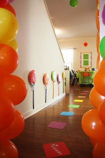 Love The Idea Of Colored Squares On Ground And Using Candy Land Cards To  Advance. Great Party Idea For Future Birthdays? If Kids Still Know What  Candyland ...