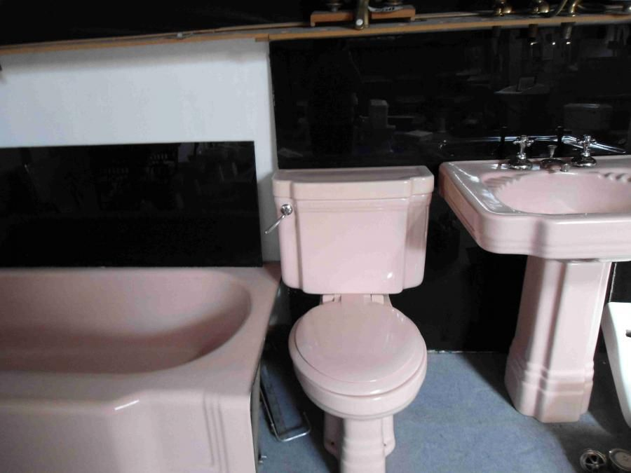 Pink Art Deco Bathroom Suite For Sale On Salvoweb From Alscot Bathroom Company In