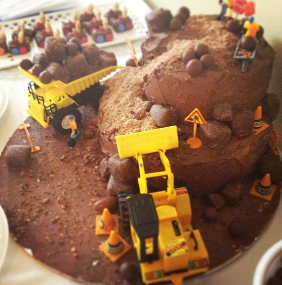 Kids Bulldozer Cake Thinking A Bulldozer Cake For Alesandros