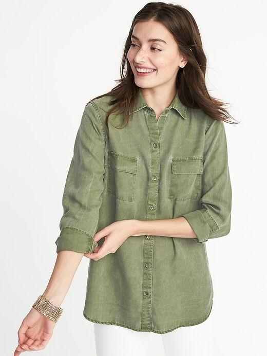 Relaxed Tencel® Utility Shirt for Women