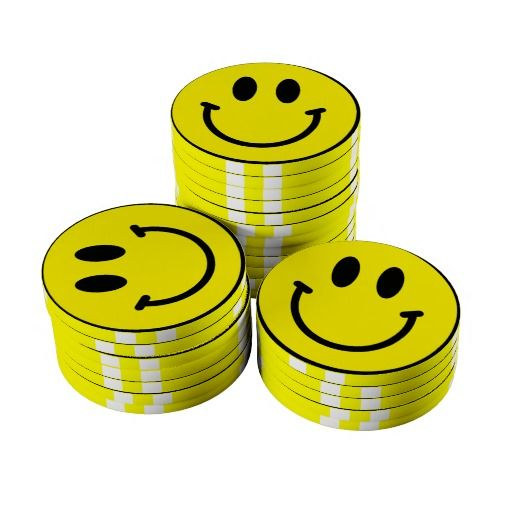 Smiley face poker chips poker calling ranges