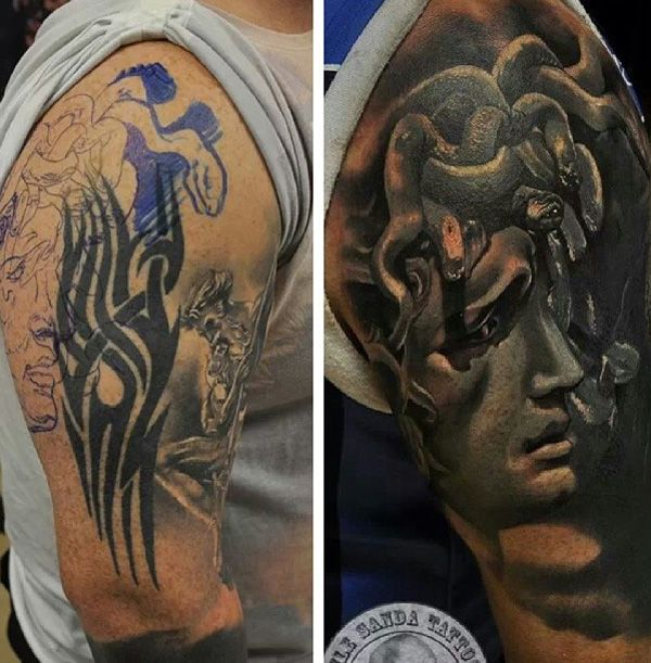 Tattoo Ideas Easy To Hide: 55+ Incredible Cover Up Tattoos Before And After