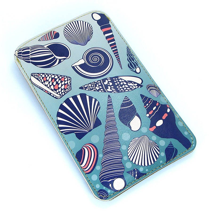 sea shell leather phone case by tovicorrie   notonthehighstreet.com