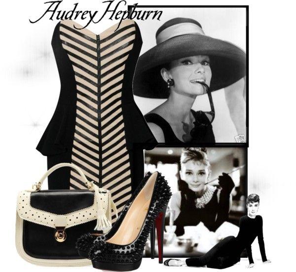 """Audrey Hepburn"" by pinkaddicted on Polyvore"