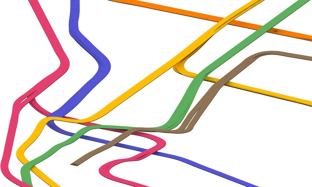 nyc subway 3d track map downtown