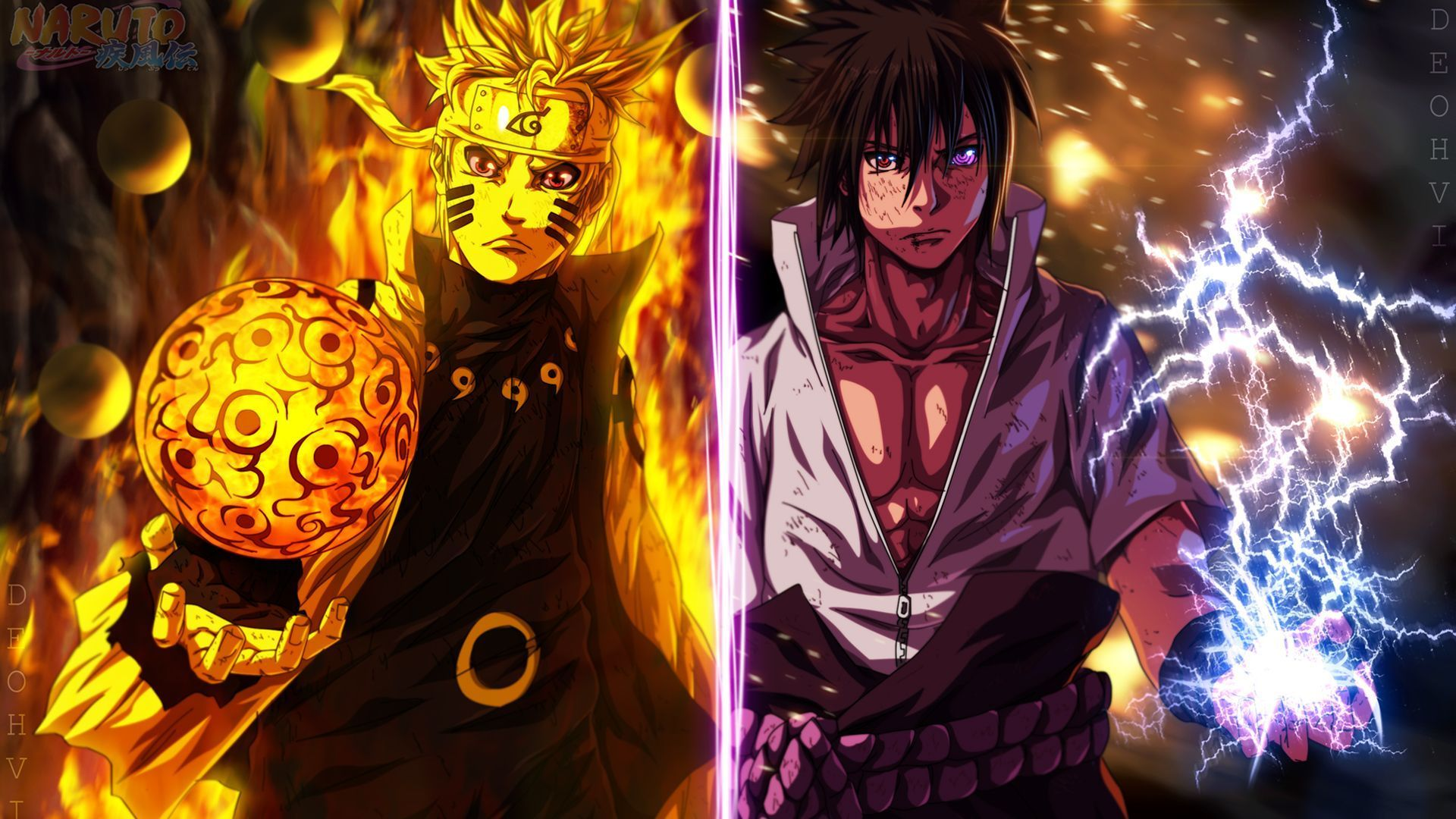 Naruto Vs Sasuke 4k Wallpaper For Android On Wallpaper 1080p Hd
