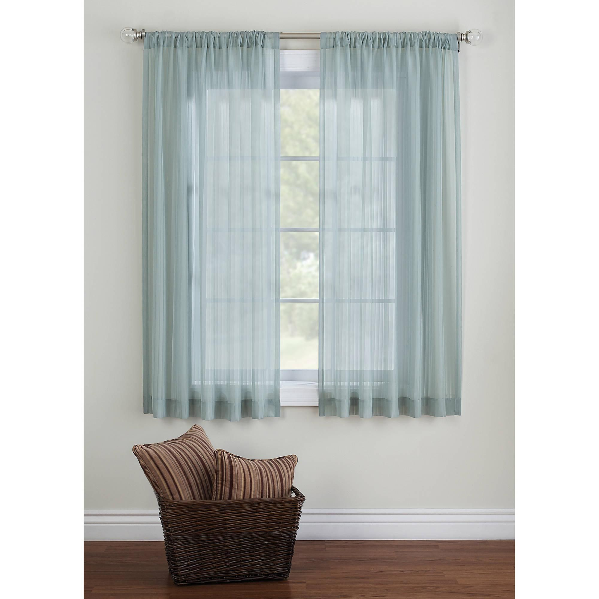 Sheer Curtains Curtains Drapes Walmart Com Sheer Window
