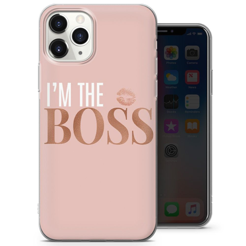 Beautiful Girl Boss Pink Silicone Gel Phone Case Cover For Etsy In 2021 Print Phone Case Phone Case Cover Phone Cases
