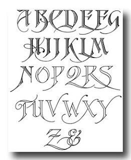 Calligraphy Alphabet  Calligraphy Alphabets  Needlework