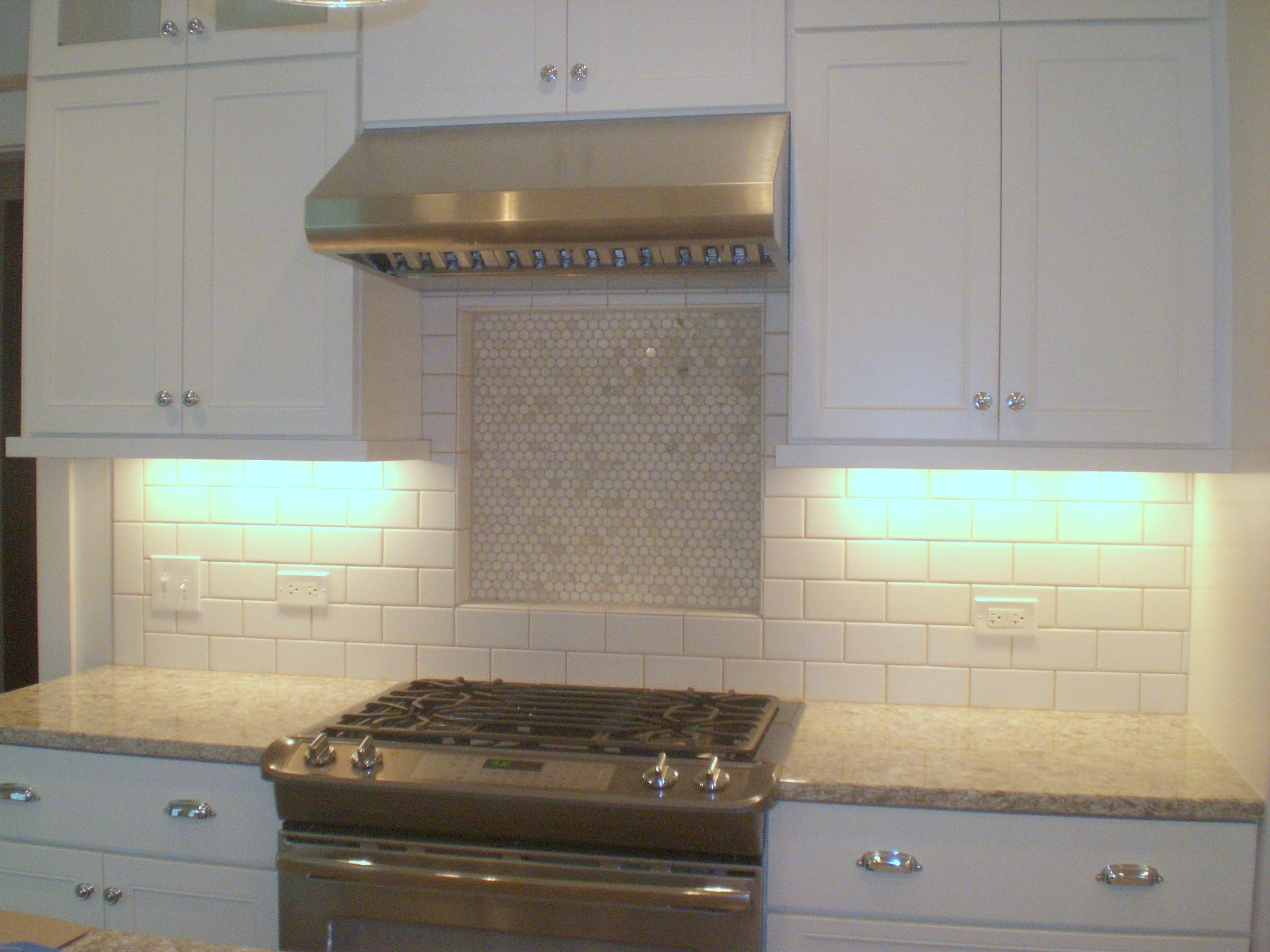 Decorative Tile Backsplash Kitchen Enchanting White Cabinetry Sets With White Subway Tile Backsplash