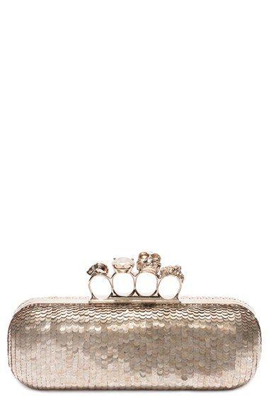 McQueen Golden Knuckle Clasp Clutch   Outfit inspiration   Pinterest ... fe35e5a2a7