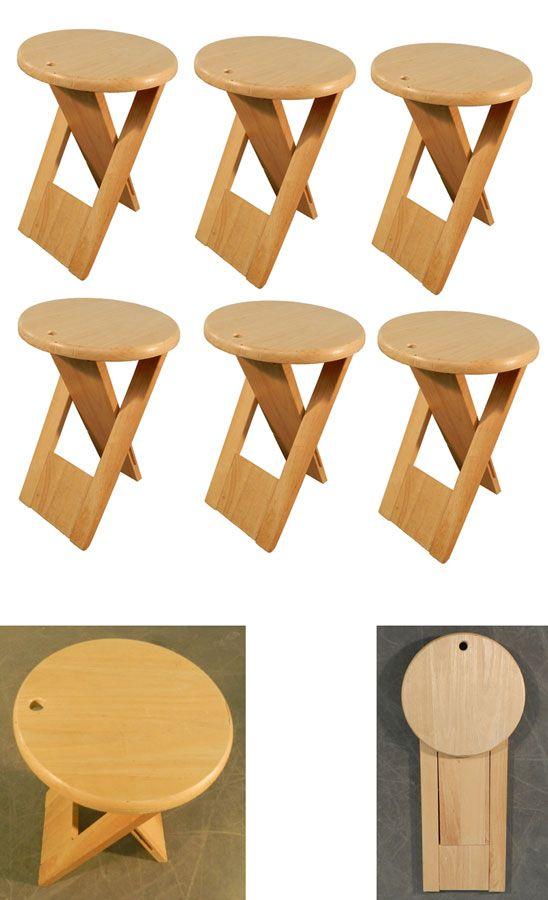 JEAN TALON ( ATTRIBUE A ) SUITE DE 6 TABOURETS PLIANTS is part of Wood furniture diy -