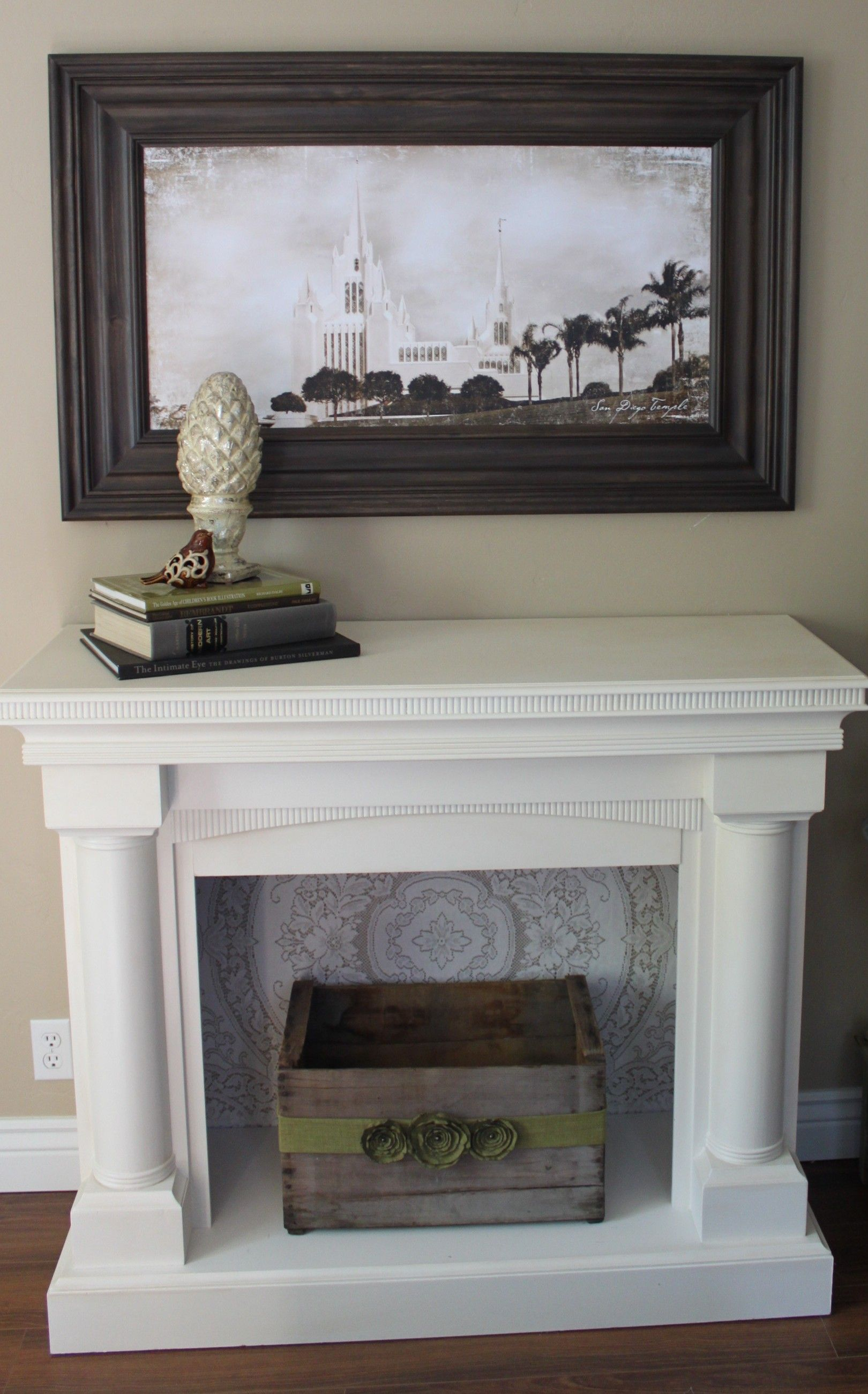 the room fireplace amazing of photo living for fake sandstone gallery decorating