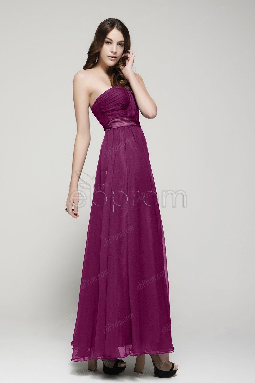 sweetheart Magenta bridesmaid dresses long | Plum bridesmaid