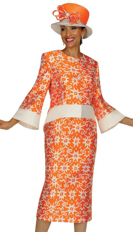Available In Sizes 6 26 In Orange Womens Church Suits Church