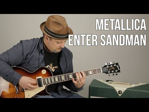 "How to Play ""Enter Sandman"" on guitar - Metallica Guitar Lessons - Marty Schwartz - YouTube"