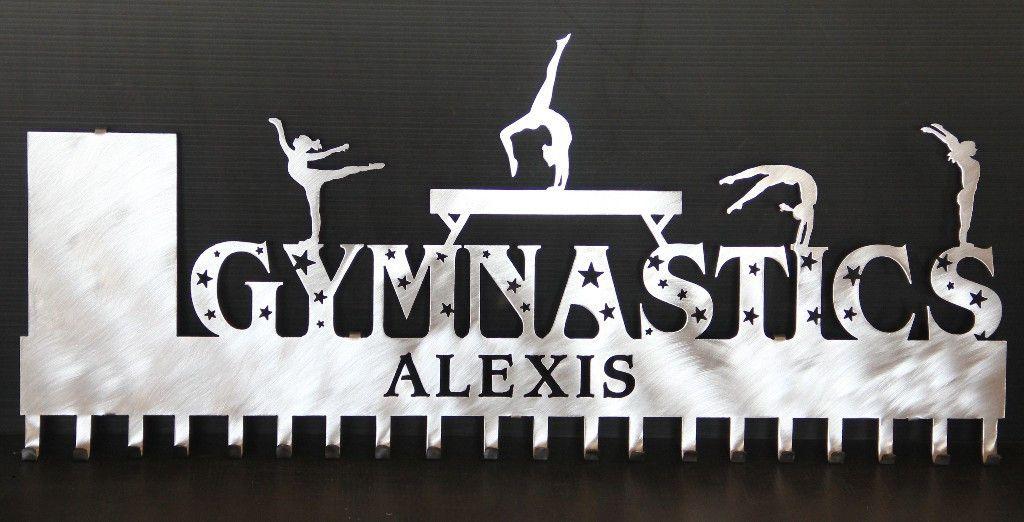 Gymnastics Medal Display: Personalized Gymnastics Medal Holder: Gymnastics Medal Hanger – Personalized Medal Holders: Custom Wall Decor: Trophy Shelves