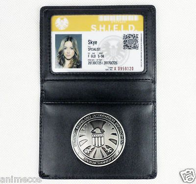 Agents Of S H I E L D Shield Badge Leather Holder Skye S Id Card Badges Tv Memorabilia Marvel Agents Of Shield Agents Of Shield Marvel Shield